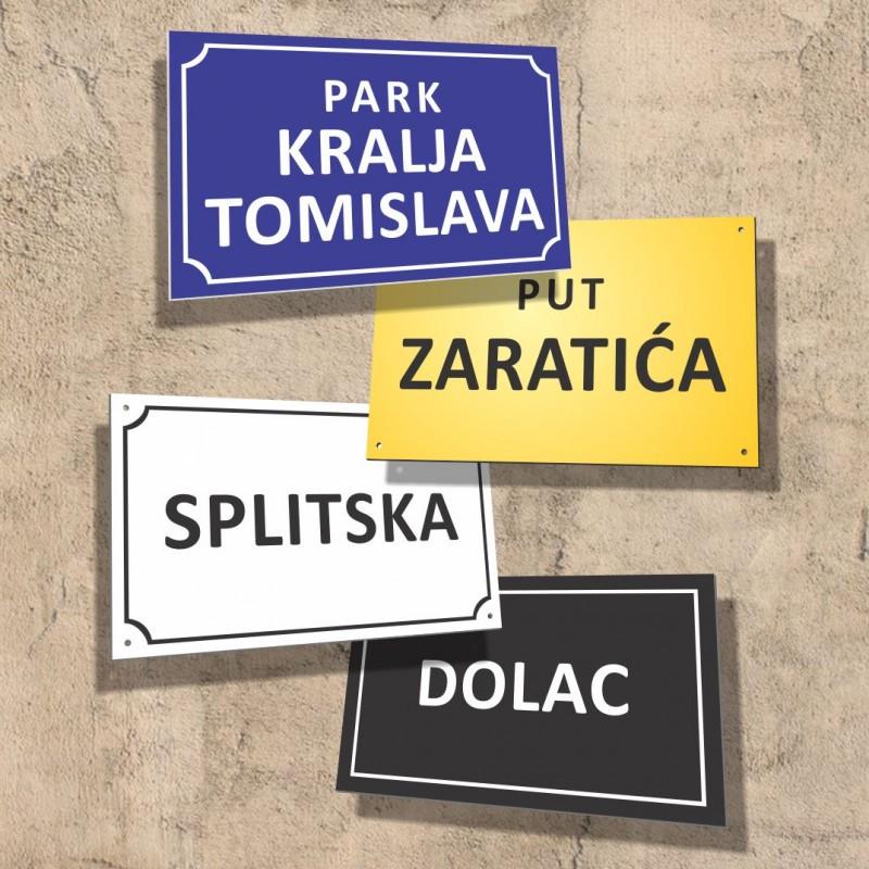 Izrada table sa nazivom ulice